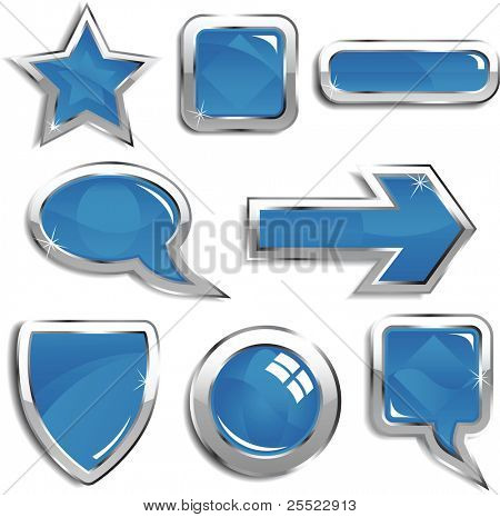 Glassy blue web elements (raster version)