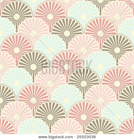 Seamless japanese vintage pattern (raster version)