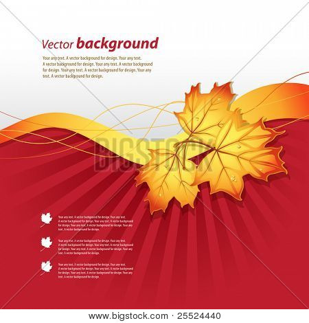 Vector background on a theme of autumn