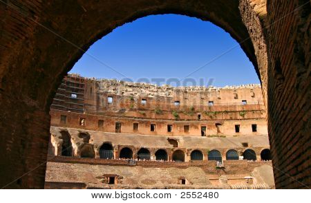 Rome Colosseum Internal Wide Angle