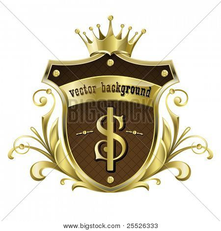 Vector background for design. Golden royal design element