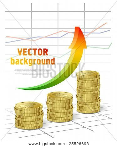 Vector it on a theme of business with cents