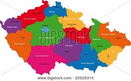 Regions of the Czech Republic with capital cities