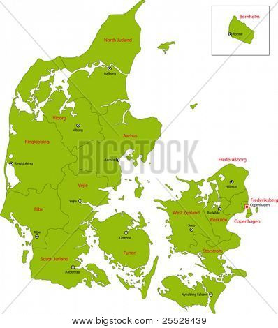 Map of administrative divisions of Denmark
