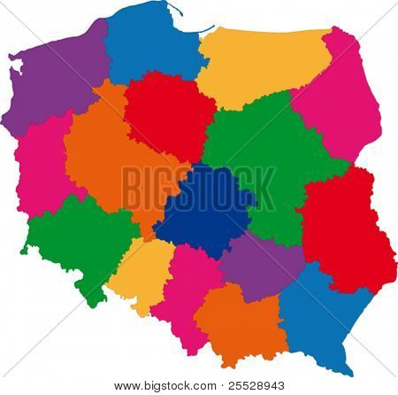 Map of administrative divisions of Poland
