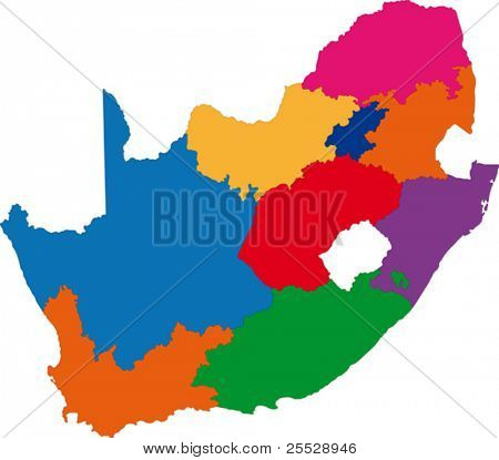 Map of administrative divisions of South Africa
