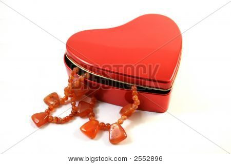 Necklace In  Heart -Shaped Box