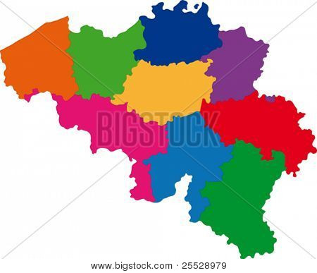 Map of administrative divisions of Belgium