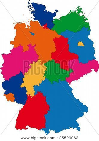Mapa de organización territorial de Alemania