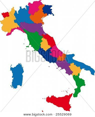 Map of administrative divisions of Italy