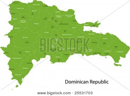 Dominican Republic map with provinces and capital cities