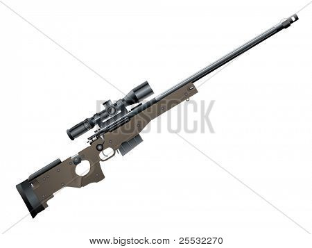Illustration of sniper rifle