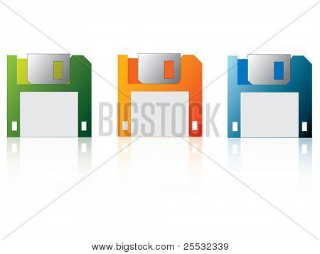 Illustration of floppy disk (icon of save)