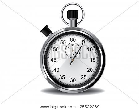 Vector illustration of stopwatch