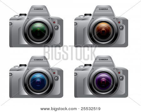 Digital dslr camera silver