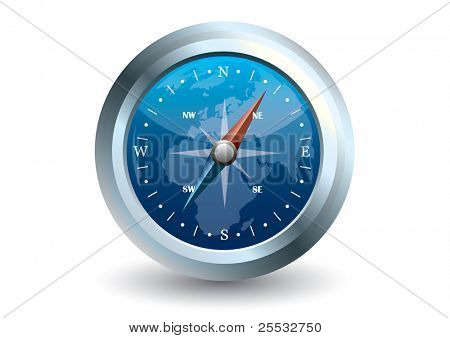 Vector of blue compass