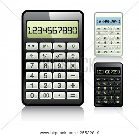 Calculator set vector