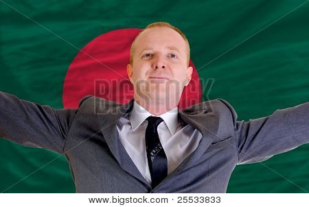 Happy Businessman Because Of Profitable Investment In Bangladesh
