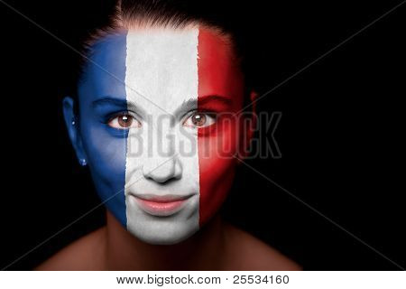 Woman with the flag of the Netherlands