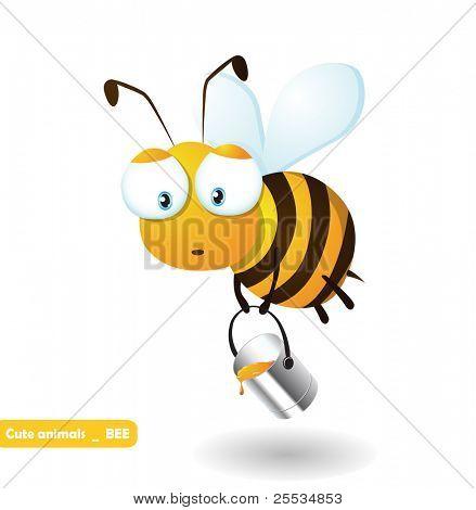 Cute honeybee