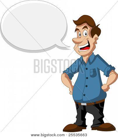 Cartoon man talking