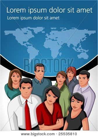 Group of business and office people. Business template.