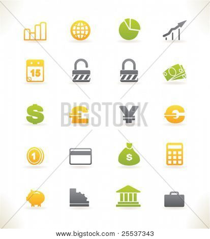 Set of beautiful vector web icons vol.3 Finance