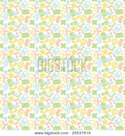 Seamless colorful vector web pattern.