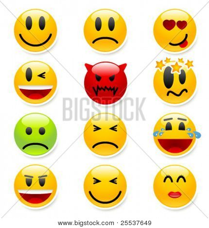 Big set of vector smile icons. Part 2