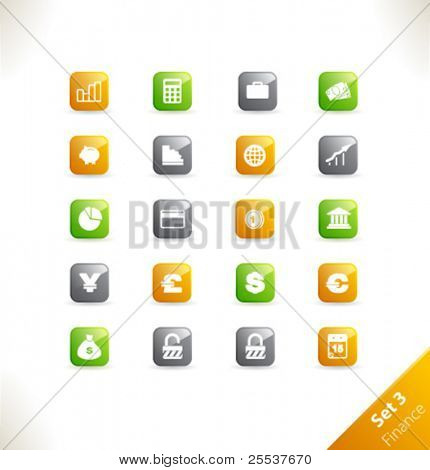 Vector beautiful icon set. Part 3 - Finance