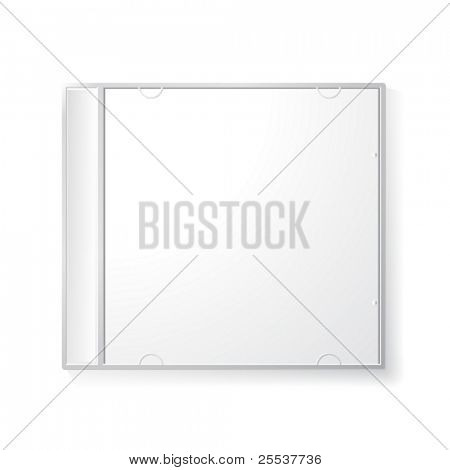 Vector blank cd box