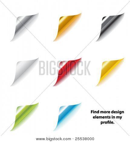 Big set of vector paper corners