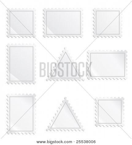 Collection of vector postage stamps