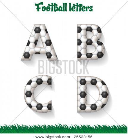Vektor-Fußball-Briefe