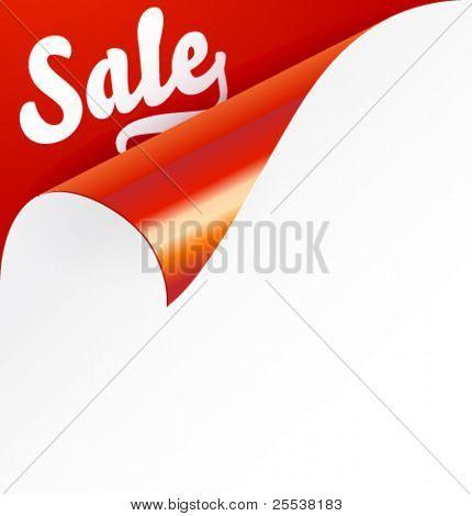Sign Sale on curled corner