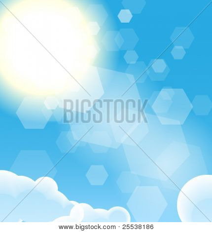 Vector sky and sun abstract illustration