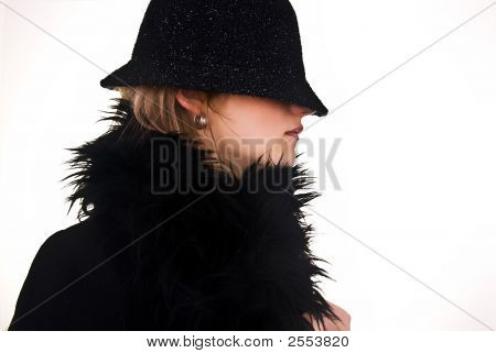 Profile Woman In Hat