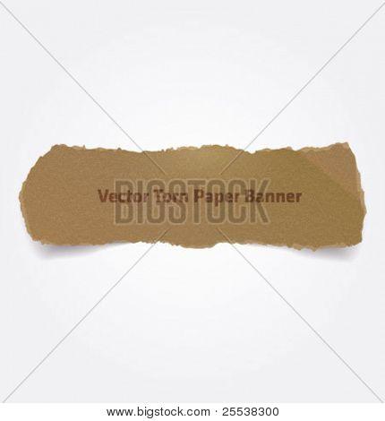 Vector torn paper banner