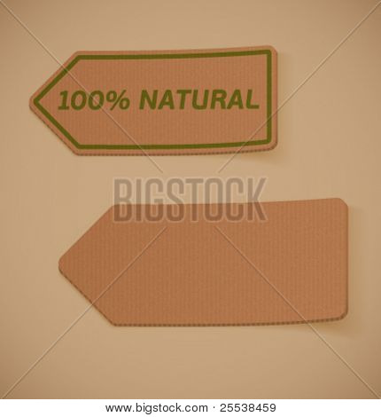 Vector cardboard sticky label