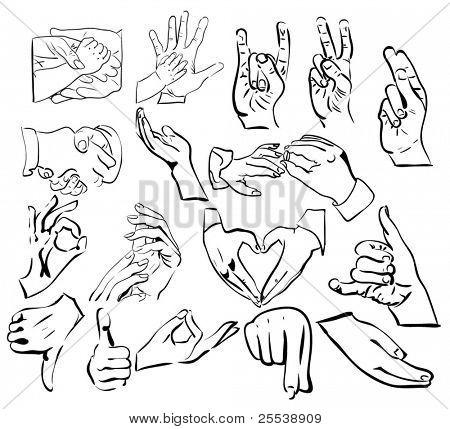 vector set: hand gestures