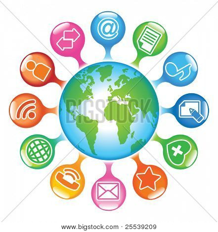 Desarrollo social-medios-Globe.The de comunicaciones globales