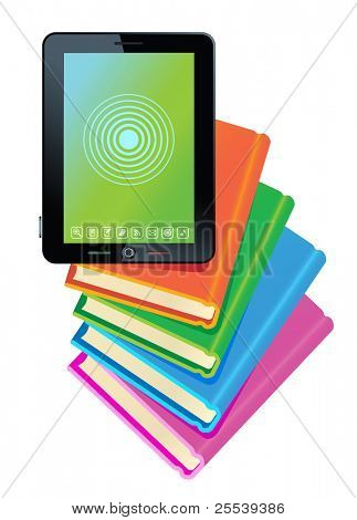 tablet book.Books in Electronic books.
