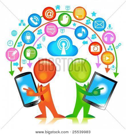 Communication-person. communication concept