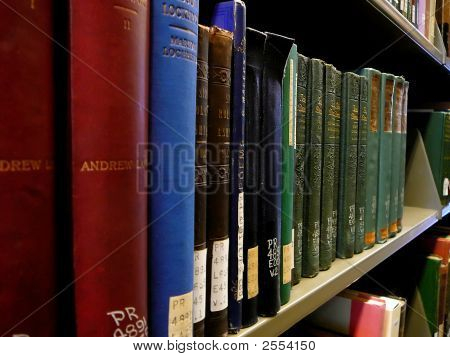 Shelf Of Books In School Library