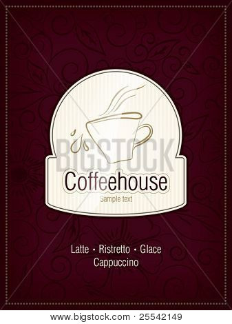 The concept of coffeehouse menu