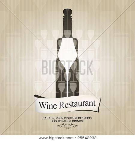 Vector. Wine list design