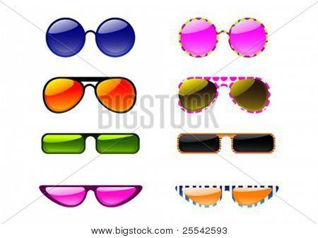 Sunglasses. Vector illustration.