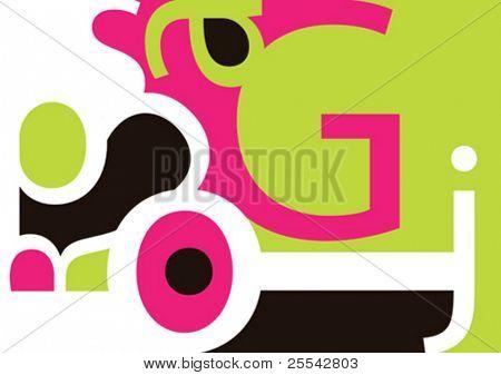 Abstrato com tipografia. Ilustração vetorial.