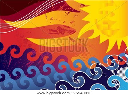 Abstract summer background. Vector illustration.