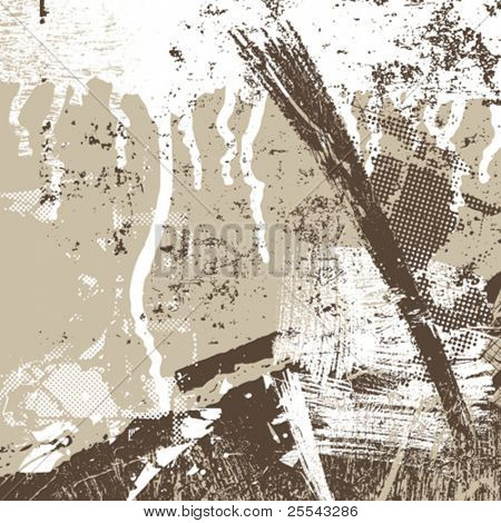 Grunge background artístico. Ilustração vetorial.